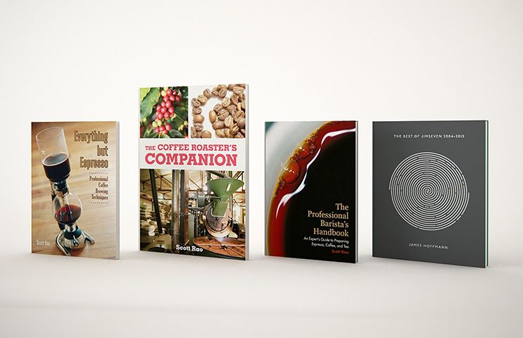 All four books about coffee